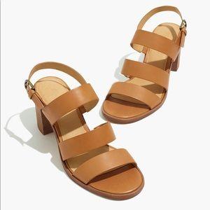 Madewell strappy summer sandal heels